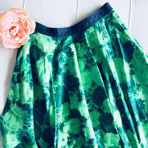 Anthro Edme & Esyllte Green Thumb Circle Skirt